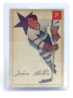 1954-55 Tim Horton #31 Parkhurst Toronto Maple Leaf Vintage Ice Hockey Card I062