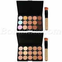 15 Colors Pro Face Concealer Palette Contour Foundation Cream Palette With Brush
