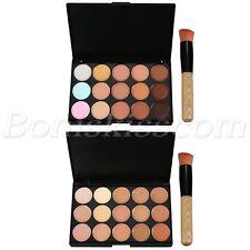 15 Colors Pro Face Concealer Palette Contour Foundation Cream Palette With Brush