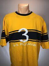 US Polo Assn Men's Size XXL Short Sleeve 100% Cotton Yellow Blue #3