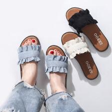 Korea Style Womens Ladies Flats Slip On Comfy Flip Flops Slider Slippers Sandals