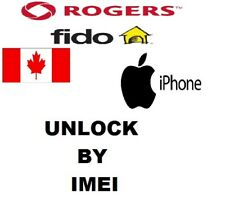 ROGERS FIDO CANADA UNLOCK SERVICE For iPHONE 5 5c 5s 6 6s 6+ 6s+ SE 7 7+ 8 8+