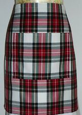 SHORT BISTRO / CAFE / PUB APRON,LOVELY DRESS STEWART TARTAN. Made in Scotland