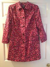 Sigrid Olsen Women's Size 6 Pink and Black Rain Coat