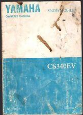 1995 YAMAHA CS340EV SNOWMOBILE OWNERS MANUAL LIT-12628-01-63  (733)