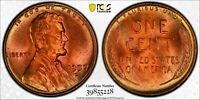 1957 D Lincoln wheat cent PCGS MS65RD Great toning