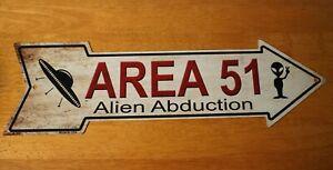 Area 51 Arrow Sign Halloween Home Decor Alien Abduction UFO Space Ship NEW