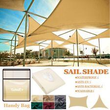 Waterproof Shade Sail Awning Cloth Triangle Rectangle Sand Sun Canopy UV-Block .