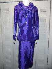 NWT- GIOVANNA SIGNATURE MOTHER OF THE BRIDE RUFFLE COLLAR SKIRT SUIT SZ. 10