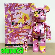 Medicom 400% + 100% Bearbrick ~ Andy Warhol Be@rbrick Pink Camo Version