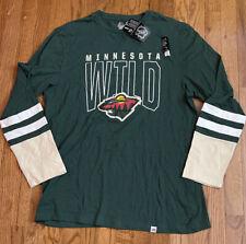 Men's Minnesota Wild Majestic 5 Minute Major Tri-Blend L/S Shirt Xl Nwt $45