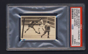 1928  Exstein Halpaus boxing card 5 Dempsey vs. Tunney PSA 5 EX