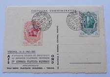 8164) Verona 6° Giornata Italiana del Francobollo 14/3/1943