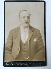 Large Victorian Cabinet Card Carte De Visite CDV Photo - Markland - Ramsbottom
