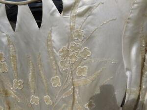 vintage dress antique Art Deco glass beadwork floral cut out wedding dress