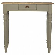 New : ARTISAN Range : Solid Wood 1 Drawer Writing Desk with Flute Legs : Grey