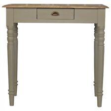 NEUF: Artisan Gamme: bois massif 1 tiroirs Writing Desk avec flûte JAMBES: Gris
