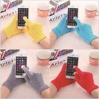 Touch Screen Winter Knitted GLOVES Ladies Mens Kids Smart Phone Tablet Warmer
