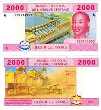 GABON AFRIQUE CENTRALE AFRICAN STATES Billet 2000 FRANCS 2002 P408A NEUF UNC