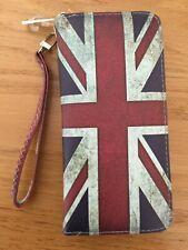 Premium Vintage Union Jack UK Drapeau Britannique Imprimé PU Cuir Continental Portefeuille