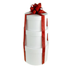 Holiday Round Nested Gift Boxes, 5, 6 and 7-Inch, 3-Piece