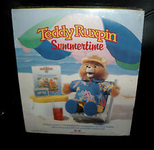 Teddy Ruxpin Summertime Cassette Tape Songbook And Beach Outfit New 1987 Reading