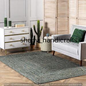 Rag Rug Hand Woven Braided Jute rag Cotton rug Home Decorative 5X8 Feet Area rug