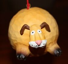 """Midwest Chubby Fat Dog Ornaments - 3.5"""" Tall X 4.5"""" Wide - Pink nose,tongue,toes"""