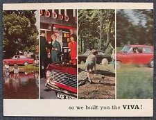 VAUXHALL VIVA Car Sales Brochure 1964-65 #V1528/12/64