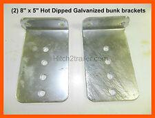 "(2) 8"" x 5"" Hot Dipped Galvanized L Type Boat Trailer Bunk Board Brackets"