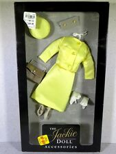 NIB FRANKLIN MINT THE JACKIE DOLL ACCESSORIES OUTFIT FASHION YELLOW DRESS