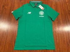 New Balance Men's Celtic FC Home Green Media Soccer Polo Jersey Shirt Large L