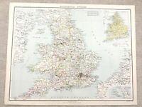 1890 Mappa Antica Di Inghilterra Chiesa Dioceses Ecclesiastical Jurisdiction