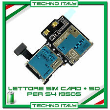 MODULO LETTORE SLOT SIM + MEMORY CARD SAMSUNG GALAXY S4 IV i9505 FLEX