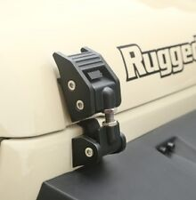 Rugged Ridge Hood Catch Kit 07-17 Jeep Wrangler JK JKU 11210.17 Textured Black