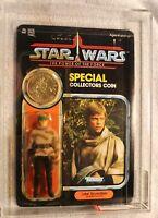 Vintage Kenner 1985 Star Wars Luke Battle Poncho POTF 92-back  AFA 75