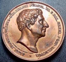 Allemagne Francfort médaille Alexander Von Vrints Oberpostmeister 10 07 1835