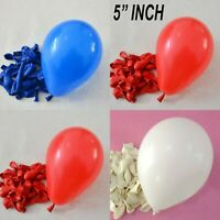 "5"" INCH small PLAIN BALOONS AIR BALLONS Latex Quality Party LOVE Wedding flag UK"