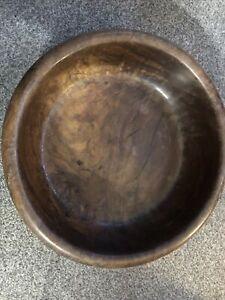 """Vintage Large Decorative Hand Carved Wooden Animal  Fruit Bowl Rustic 12"""""""