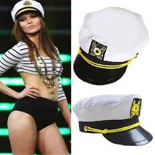 FD3099 Yacht Captain Marine Skipper Sailor Navy Nautical Hat Cap Dress Costume♫