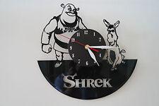 SHREK Design Vinile Record Orologio da parete [Black Matt Adesivo] arte casa ufficio negozio