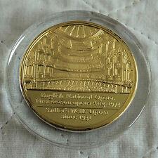 1974 inglés nacional opera Sadler pozos medalla de prueba Enchapado en Oro 50mm