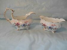 Hammersley of England Bone China Cream Pitcher & Sugar Bowl w/ Spring Flowers