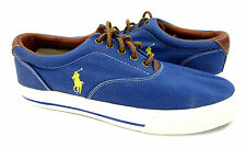 Polo Ralph Lauren Shoes Vaughn Athletic Canvas Blue Sneakers Size 9.5
