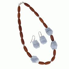 Jewelry Necklace Earrings Wood Chain edelsteinohrringe Precious Stone