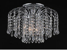 "Palace Lexington 12""  Crystal Chandelier Flush Mount Light Chrome Ceiling Light"