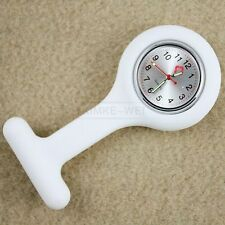 White Case Pocket Brooch Style Pin Watch for Nurses New