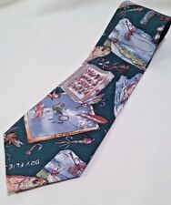 Nicole Miller Tie Fishing Lures Silk 1994 Novelty