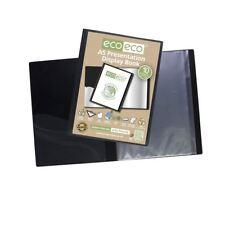 Eco-Eco A5 50% Reciclado 10 de bolsillo negro pantalla de presentación carpeta Libro