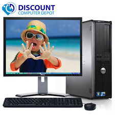 Dell Optiplex Windows 10 Desktop Computer C2D 4GB 1TB WiFi 17 Dell LCD